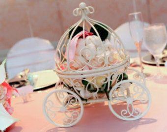 THE ORIGINAL Inspired By Disney Fairytale Wedding Cinderellas Carriage Coah Pumpkin Table Centerpiece Decor