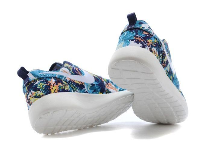 nike roshe run mens shoes olympic blue flower