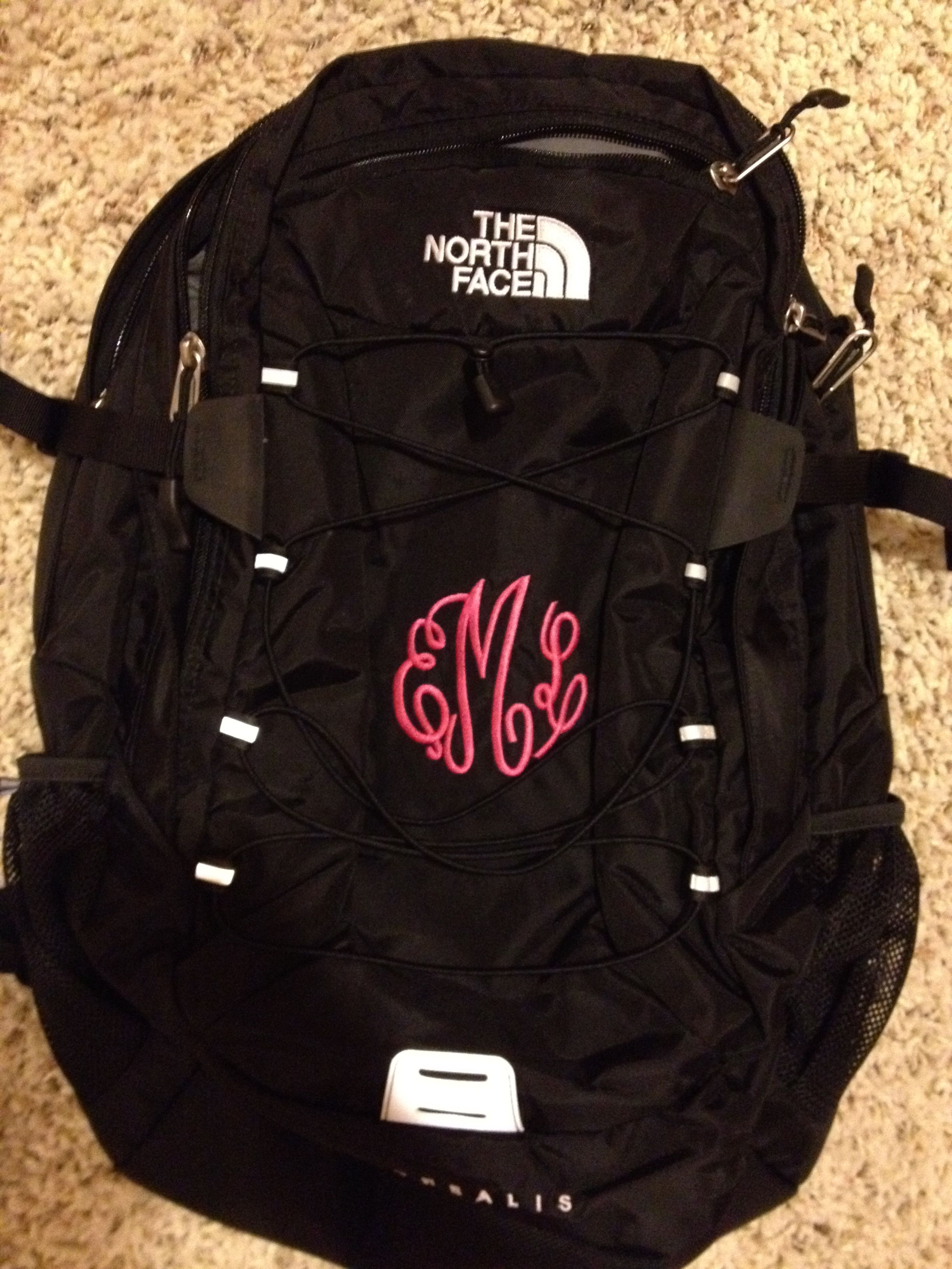 7668febb0 Monogrammed north face backpack I actually really love this....maybe ...