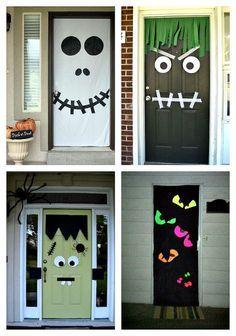 Ideas para decorar de forma diferente tu puerta este Halloween #halloweendoordecorations