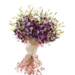 Orchid Bouquet Purple Orchids Flower Gift Purple Orchids Buy Orchids Orchid Bouquet