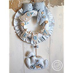 Hospital Door Hanger Boy, Baby Boy Birth Wreath, can be ...