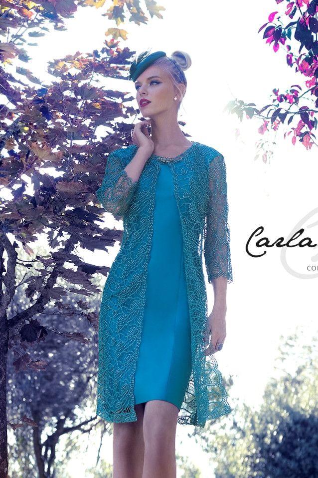 444cc16f1c Vestido de madrina con abrigo modelo 92632 de Carla Ruiz