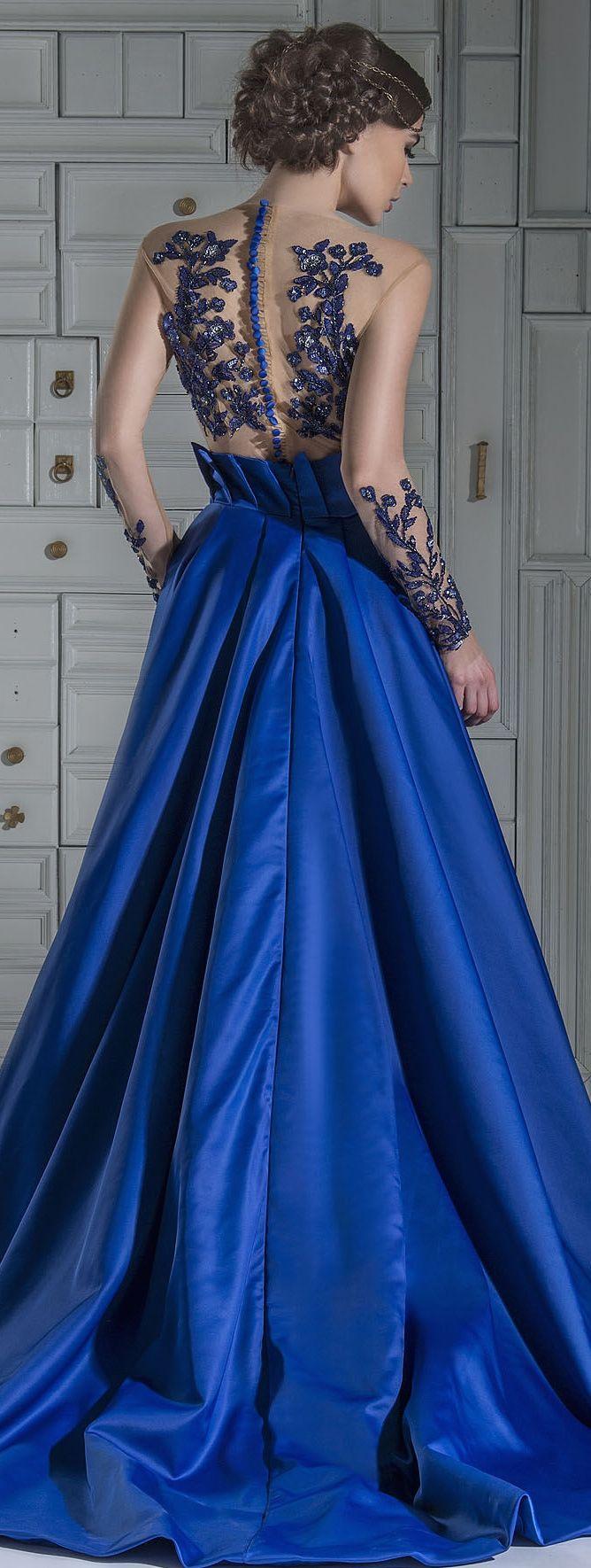 Chrystelle atallah royal blue pinterest gowns royal blue