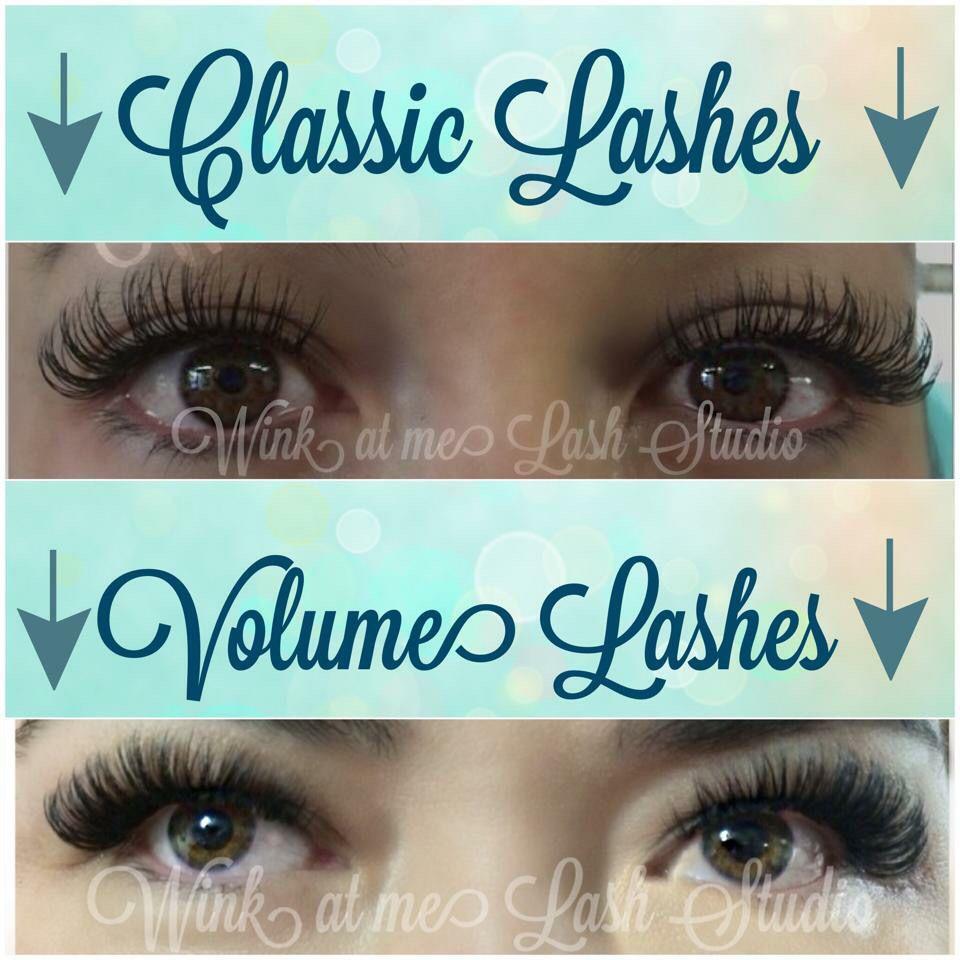 cd6d4837b6b Classic lashes vs volume lashes | Lash inspiration | Eyelash ...