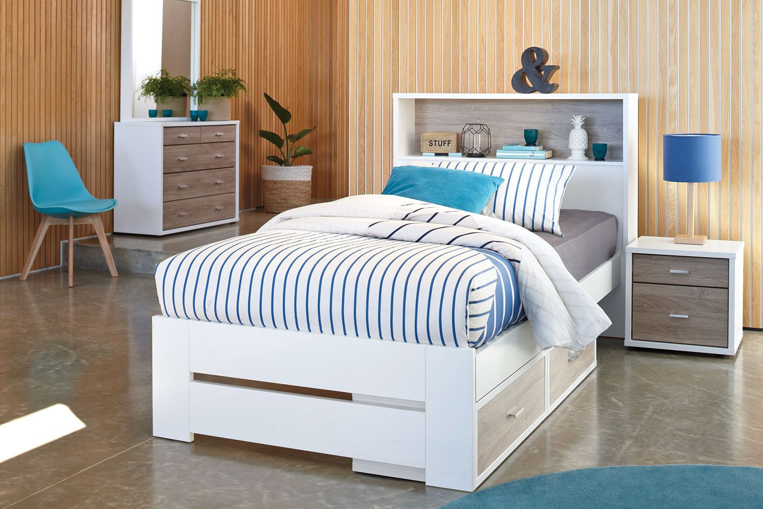 The Hero King Single Bed Frame With Storage Headboard By Platform