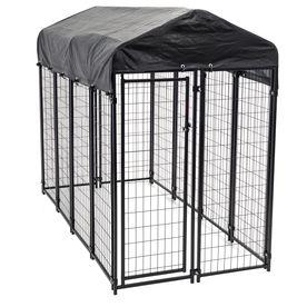 Pet Sentinel 10 Ft L X 10 Ft W X 6 Ft H Preassembled Kit Pet Kennel Lowes Com Dog Kennel Outdoor Dog Kennel Diy Dog Kennel
