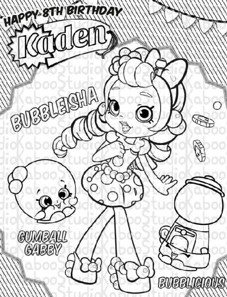 Bubbleisha shopkins Shopkin coloring pages Shopkins