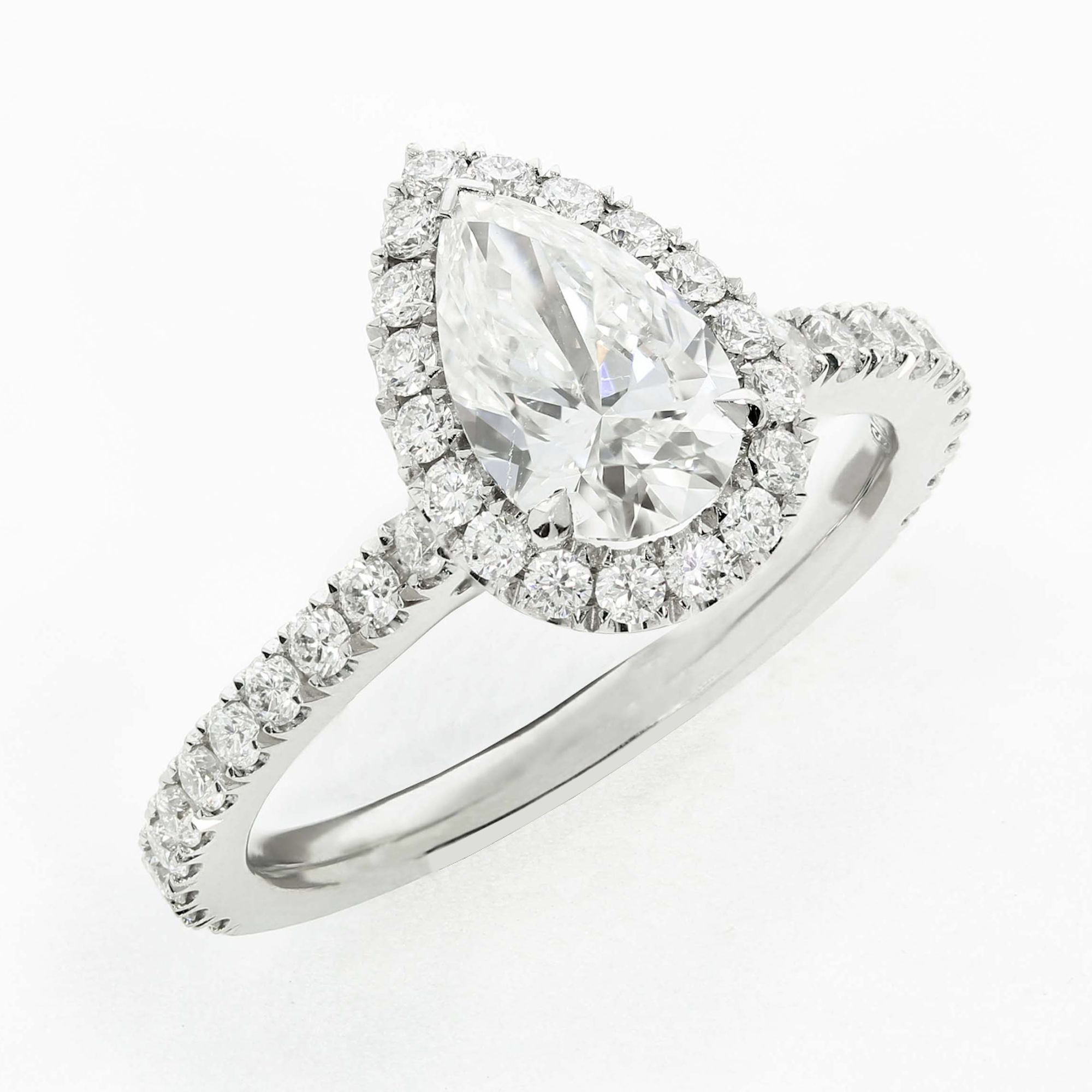 Dainty pear engagement rings forever. We're pretty ...