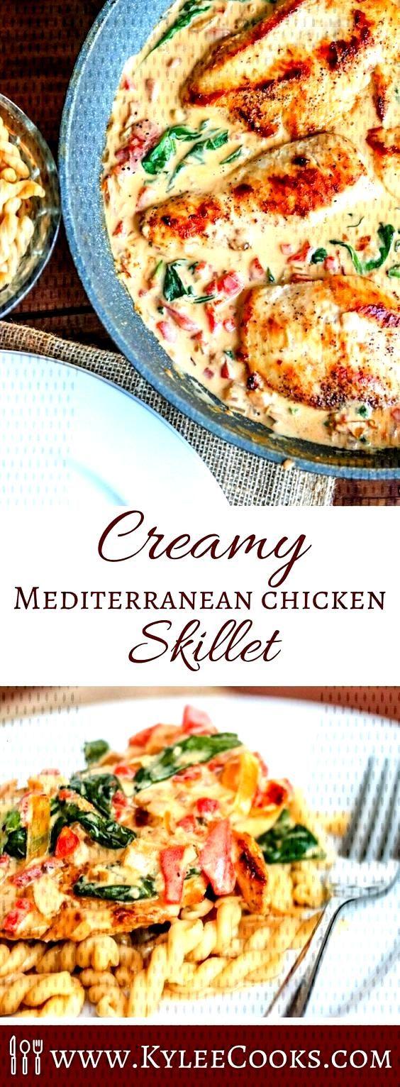 Creamy Mediterranean Chicken Skillet