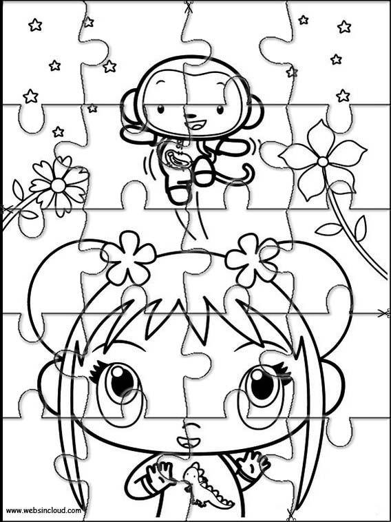 Puzzles rompecabezas recortables para imprimir Ni Hao Kai-Lan 42 ...