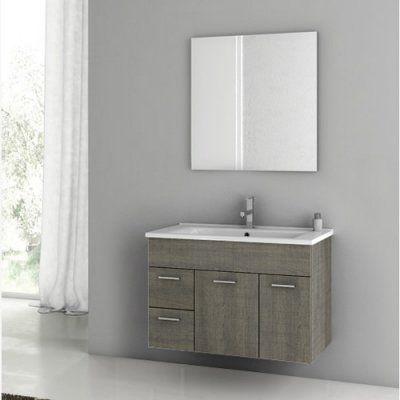 ACF by Nameeks ACF LOR01-GO Loren 33-in Single Bathroom Vanity Set