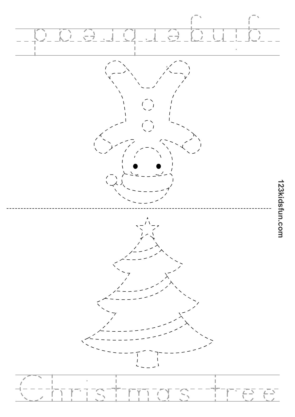 Christmas Tracer Pages From 123 Kids Fun Apps Christmas Activities For Kids Preschool Christmas Christmas Crafts For Kids [ 1754 x 1240 Pixel ]