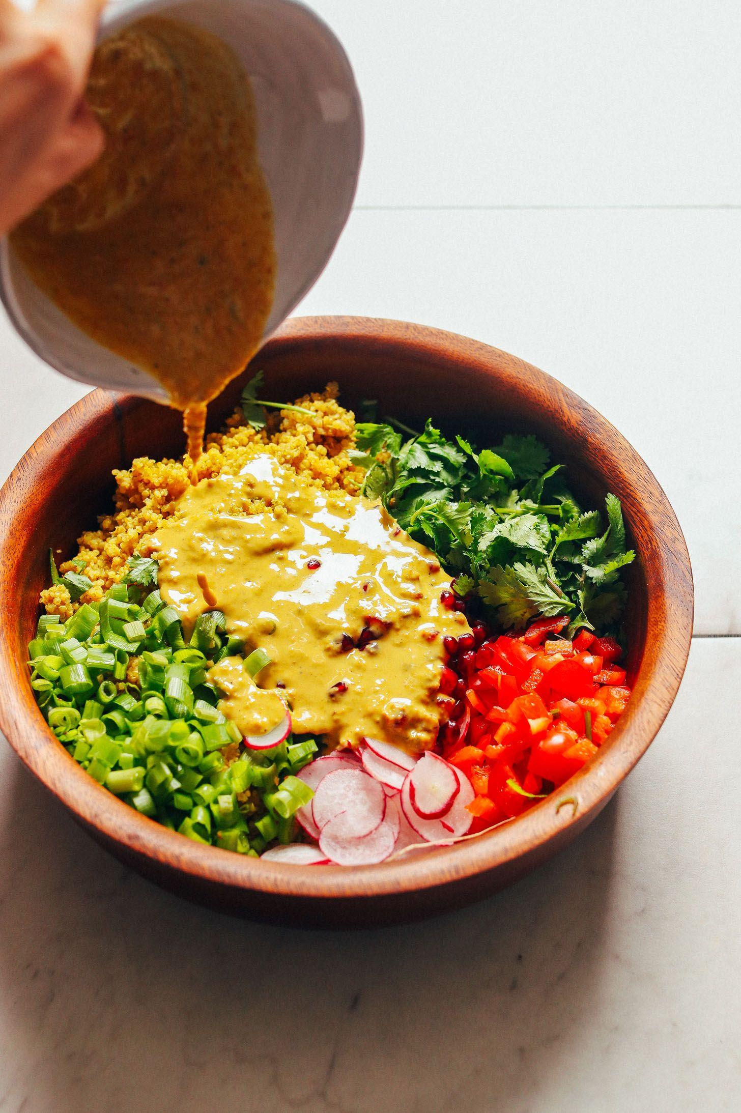 Curried Quinoa Salad Minimalist Baker Recipes Recipe Quinoa Salad Recipes Quinoa Salad Salad Recipes