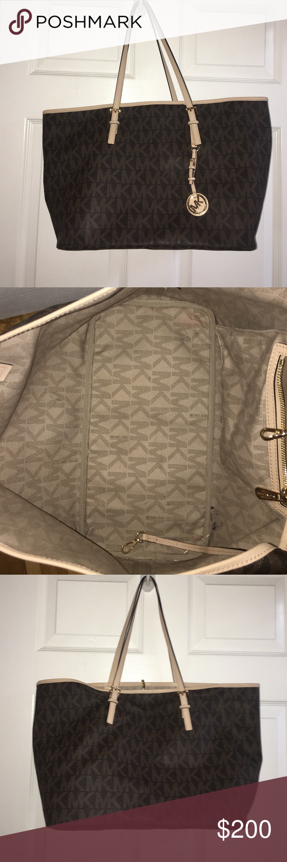 MICHAEL Michael Kors Tote Large** MICHAEL by Michael Kors Jet set Travel Tote. Tote was lightly used but no signs of damage. Perfect condition! Please take it off my hands! Price may be negotiated. Michael Kors Bags