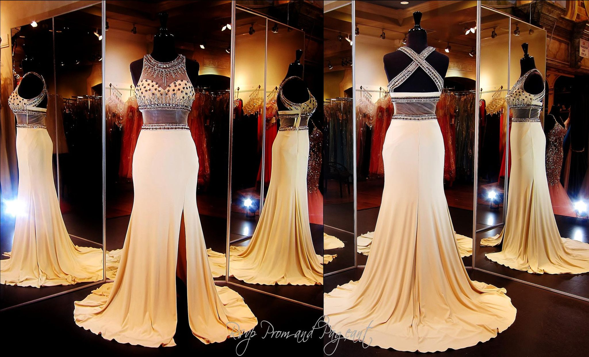 nude-jersey-prom-dress-illusion-high-neckline-bodice-sweetheart ...