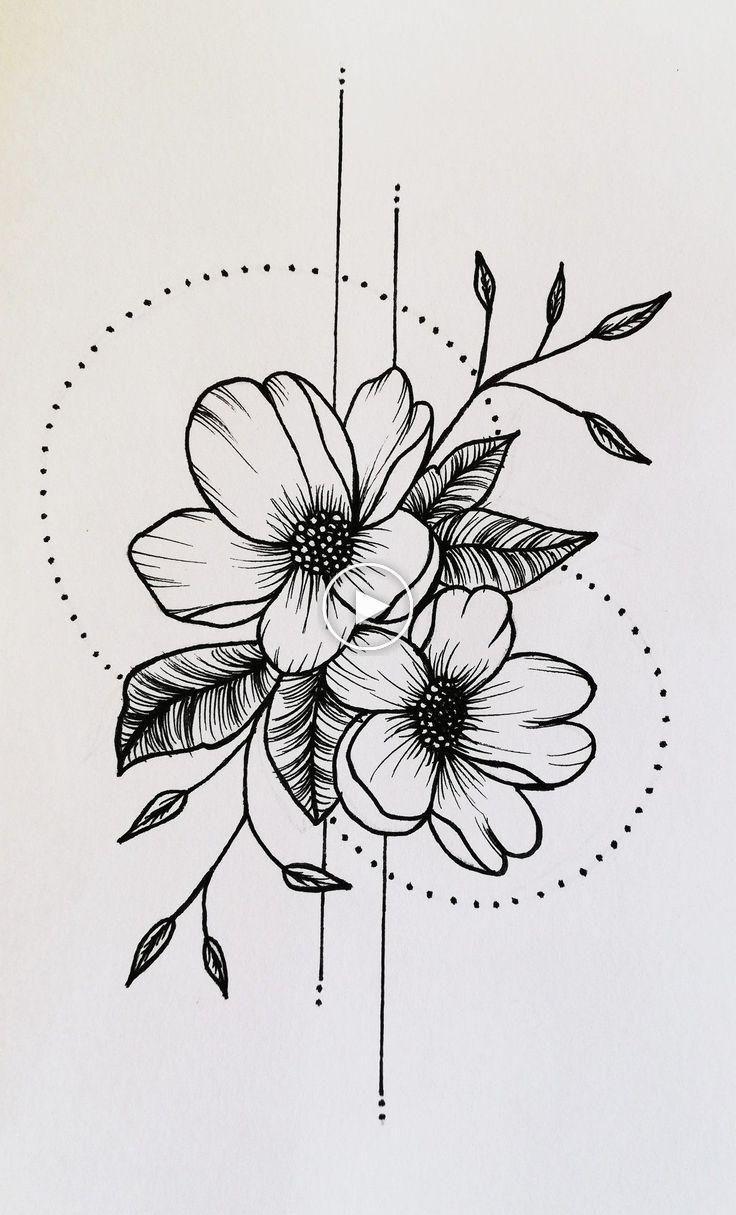 Tattoo flower tattoo unique tattoo tattoo design #flowertattoos #flowertattoos #flowertattoos