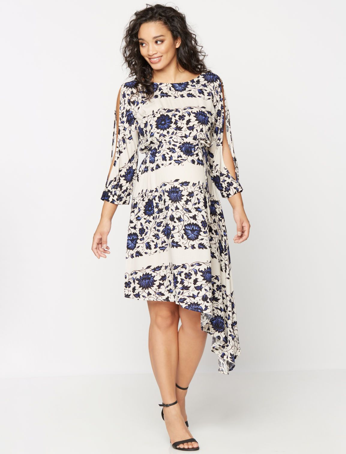 Stunning in floral 34 sleeve bias cut maternity dress by ella stunning in floral 34 sleeve bias cut maternity dress by ella moss available ombrellifo Gallery