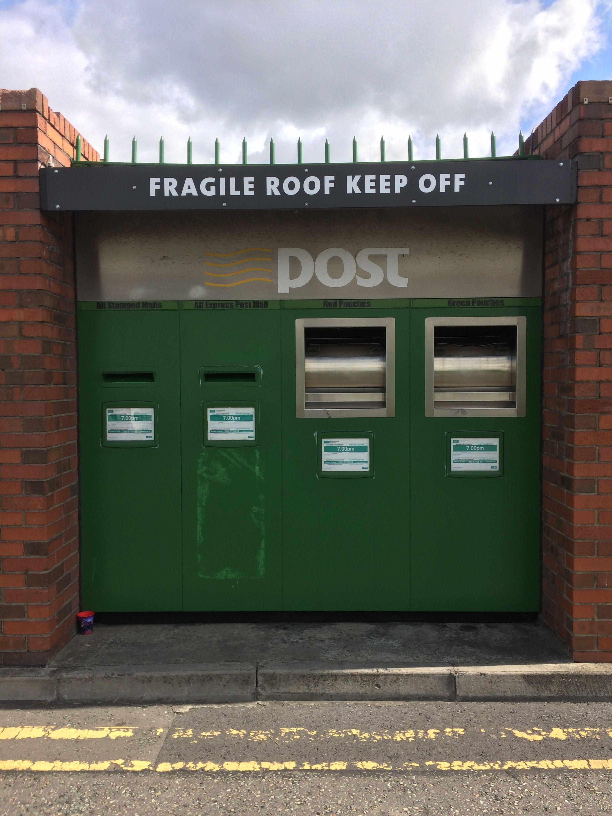 Irish Post Boxes At Dublin Mails Centre Oak Road Park West Post Box Antique Mailbox Letter Box