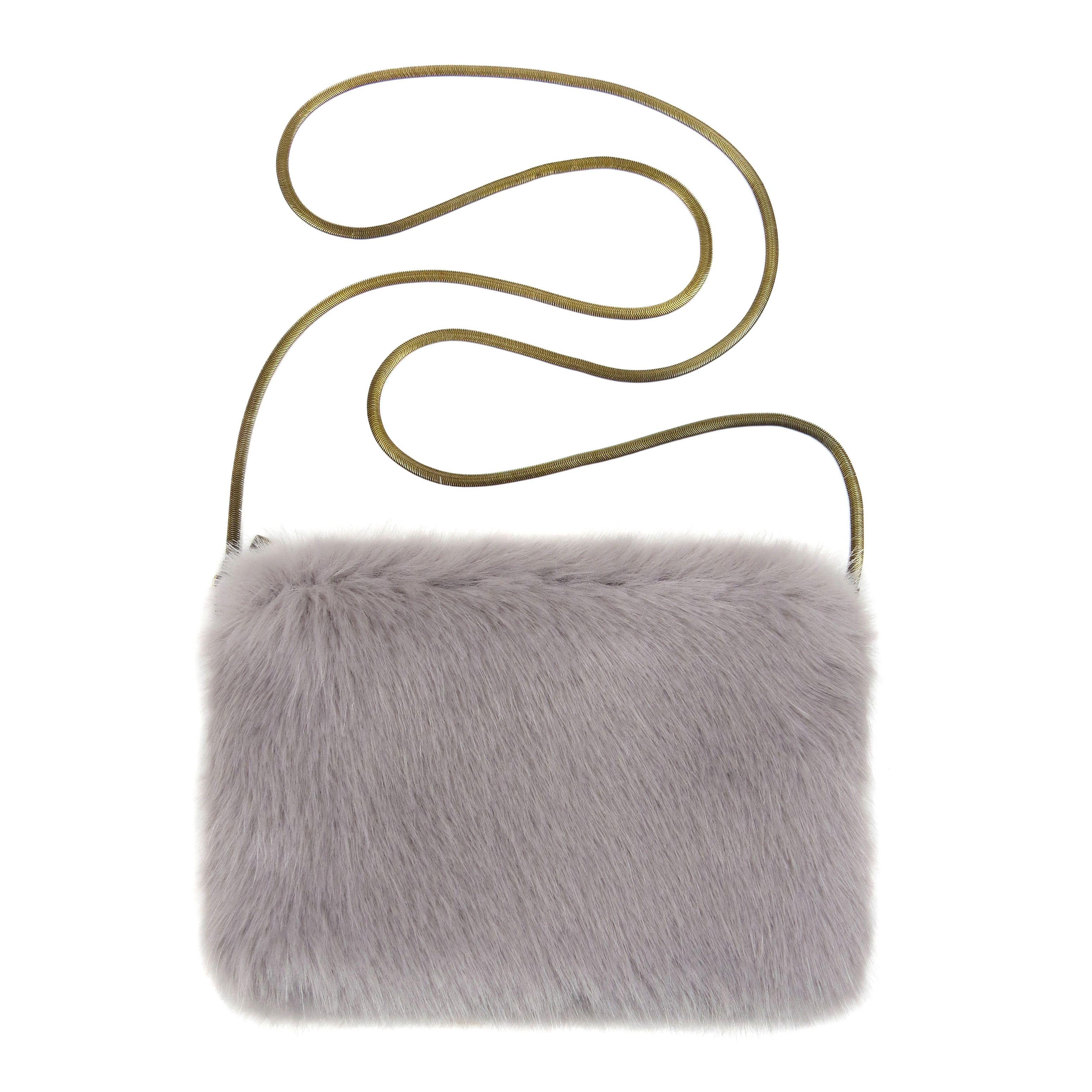 fdccdd28a92 Opal Faux Fur Bridal Chain Bag   Helen Moore   Bags   Clutches ...