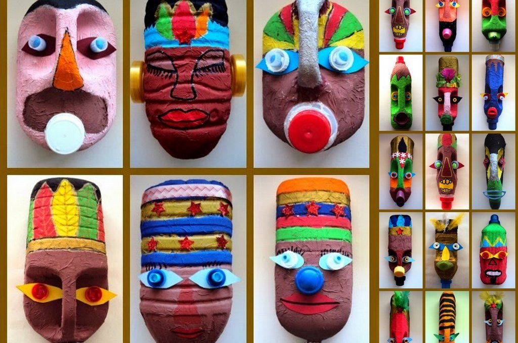 M scaras con envases reciclados http www - Manualidades con envases ...