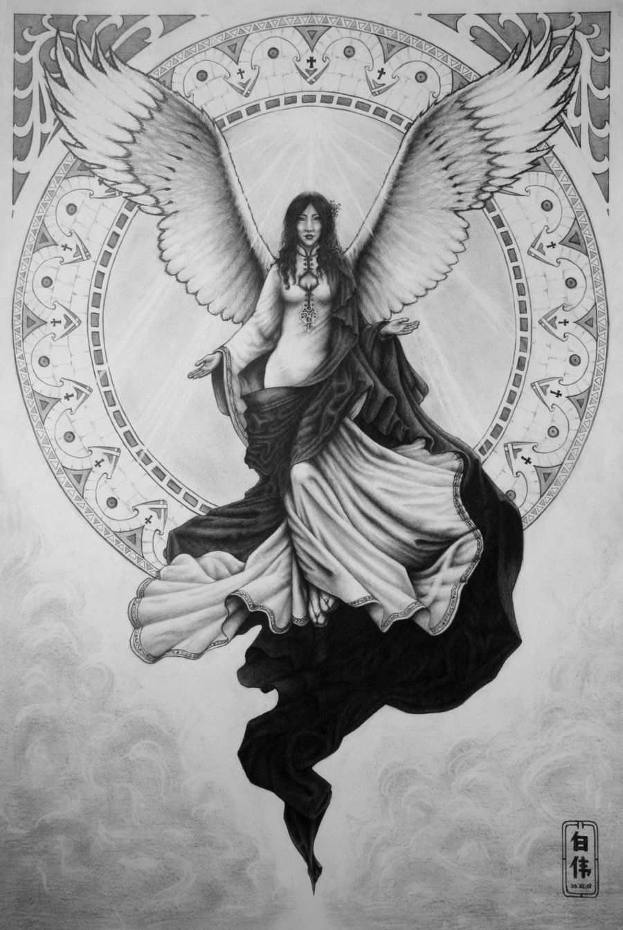 c7103d1b4 Protector Angels Drawings | my guardian angel by vforvieslav traditional  art drawings portraits .