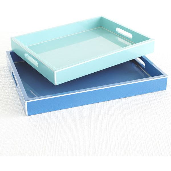 Colorful Nesting Trays | Decor ($49) ❤ liked on Polyvore