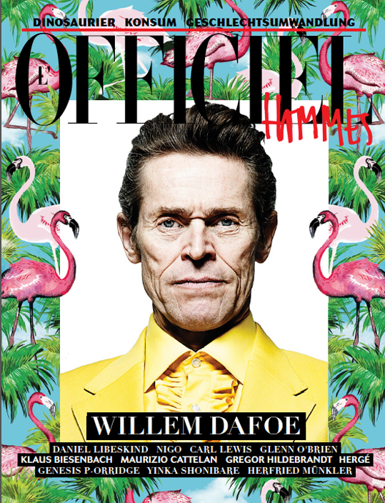 Willem Dafoe on the cover of Officiel