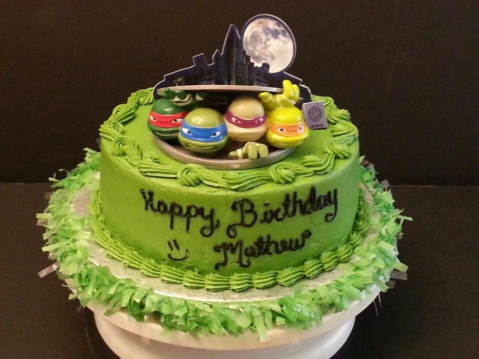 Ninja Turtles Birthday Cake Birthday Fun Pinterest Turtle