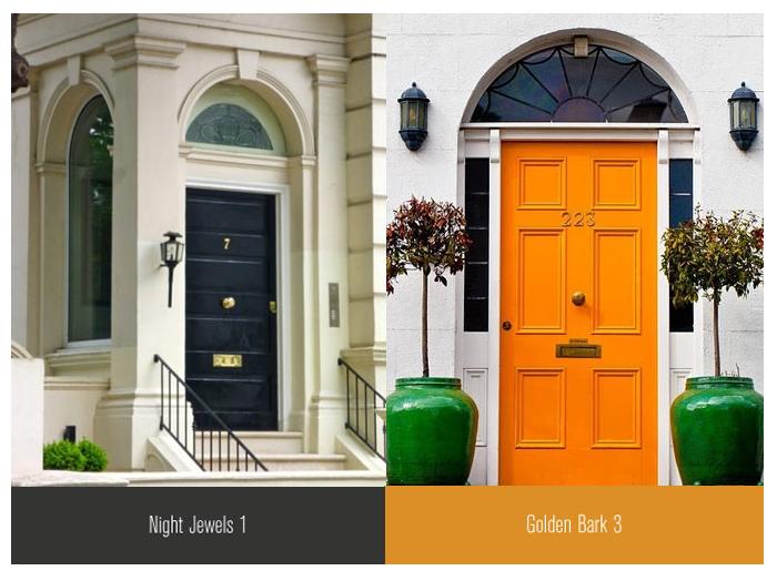 front doors inspiration orange black | Exterior Ideas | Pinterest ...