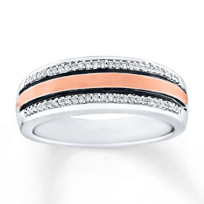 Rows Of Diamond Accents Border Rose Gold In This Handsome Men S Wedding Band Mens Wedding Bands Wedding Bands Wedding Men