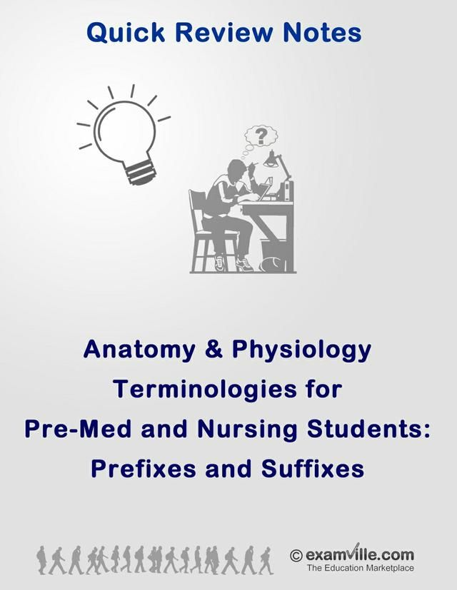 Anatomy and Physiology - Suffixes and Prefixes | Nursing and ...