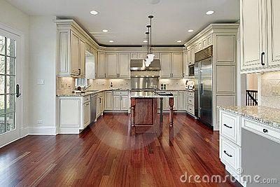 Brazilian Cherry Flooring In Kitchen