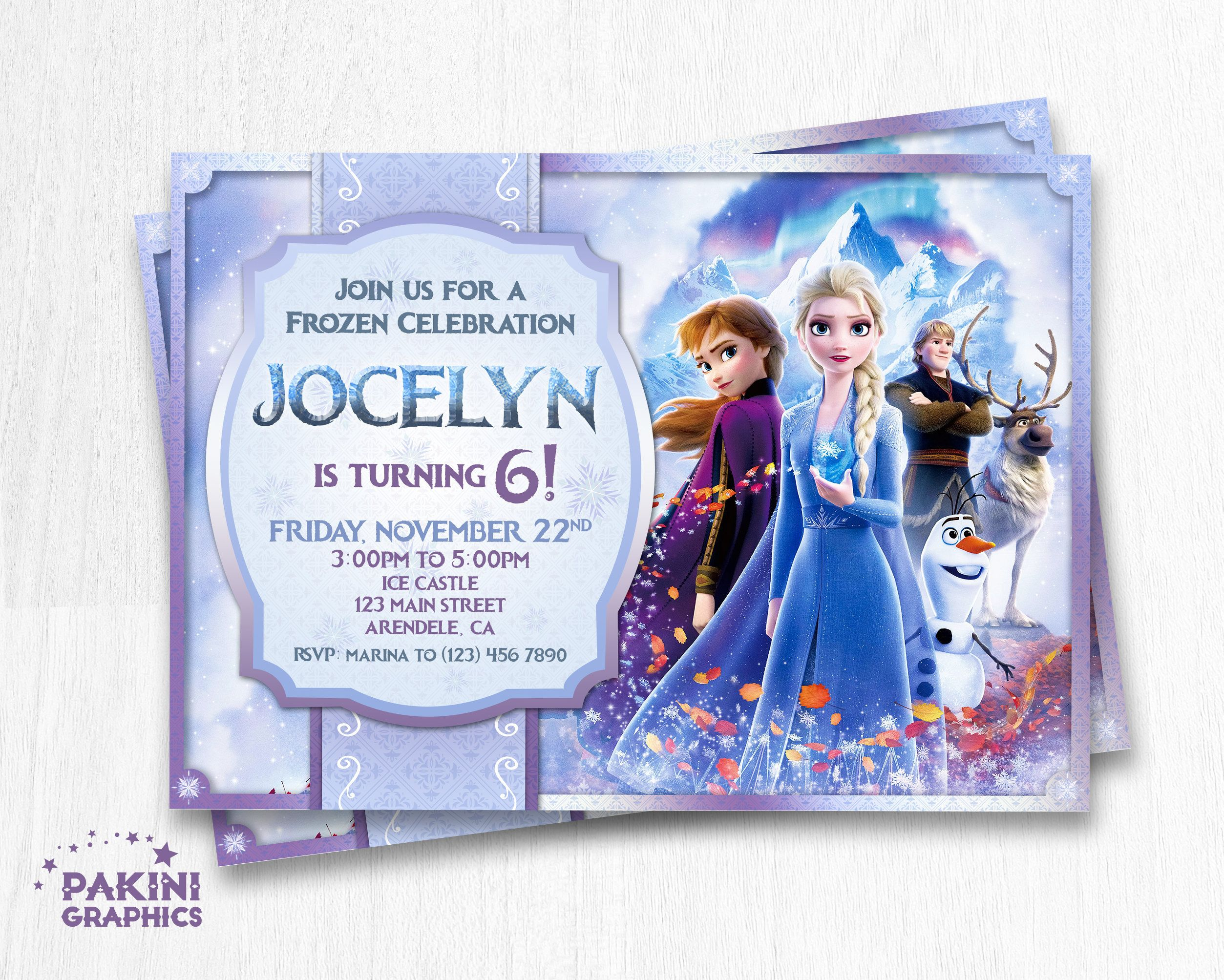 frozen 2 birthday invitation frozen