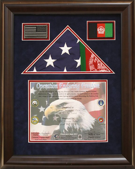 Custom American Flag shadow box created at Art and Frame Express ...