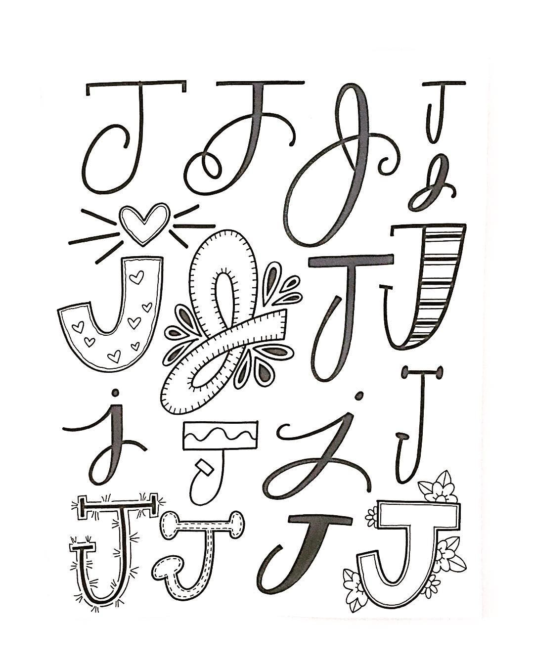 Letter J Inspiratie