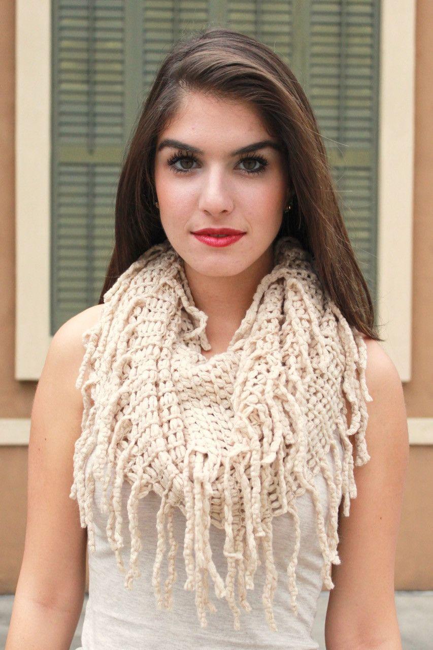 Open Weave Infinity Scarf | Scarf, Infinity scarf, Crochet