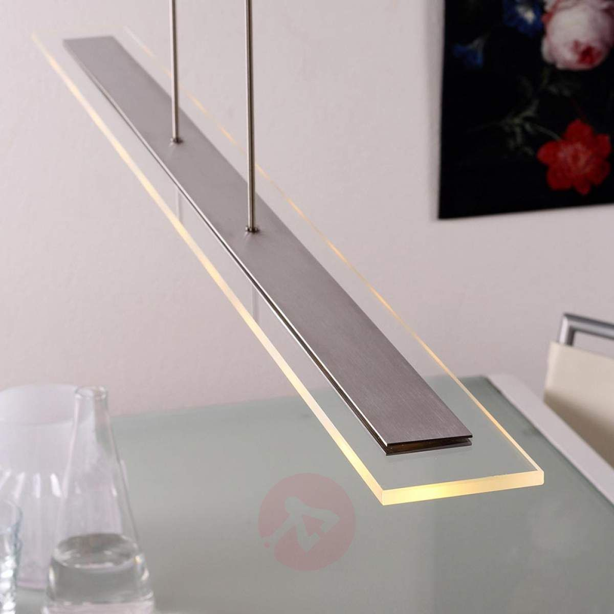Lampa Wisząca Ledowa Lampy Wiszące Podłużne Lampa Salon