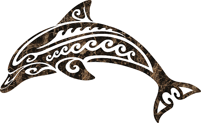 Tribal Dolphin 3567 Tribal Dolphin Emperador Tribal Animal