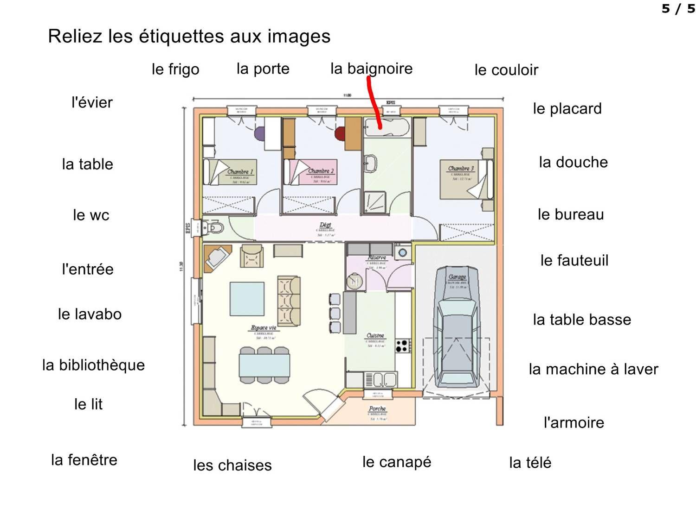 Muebles Et Espaces De La Maison Azt Ques Fran Ais Pinterest  # Muebles Worksheet