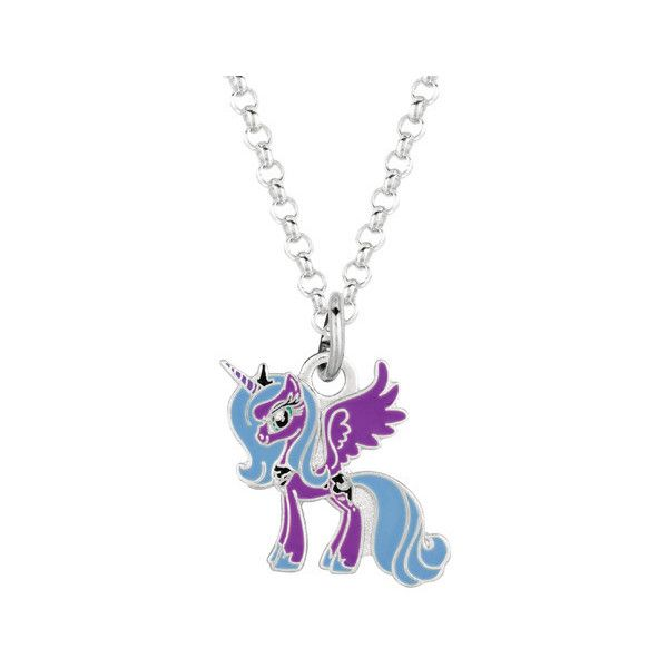 Fine silver plated luna purple unicorn my little pony pendant fine silver plated luna purple unicorn my little pony pendant necklace 13 liked mozeypictures Images
