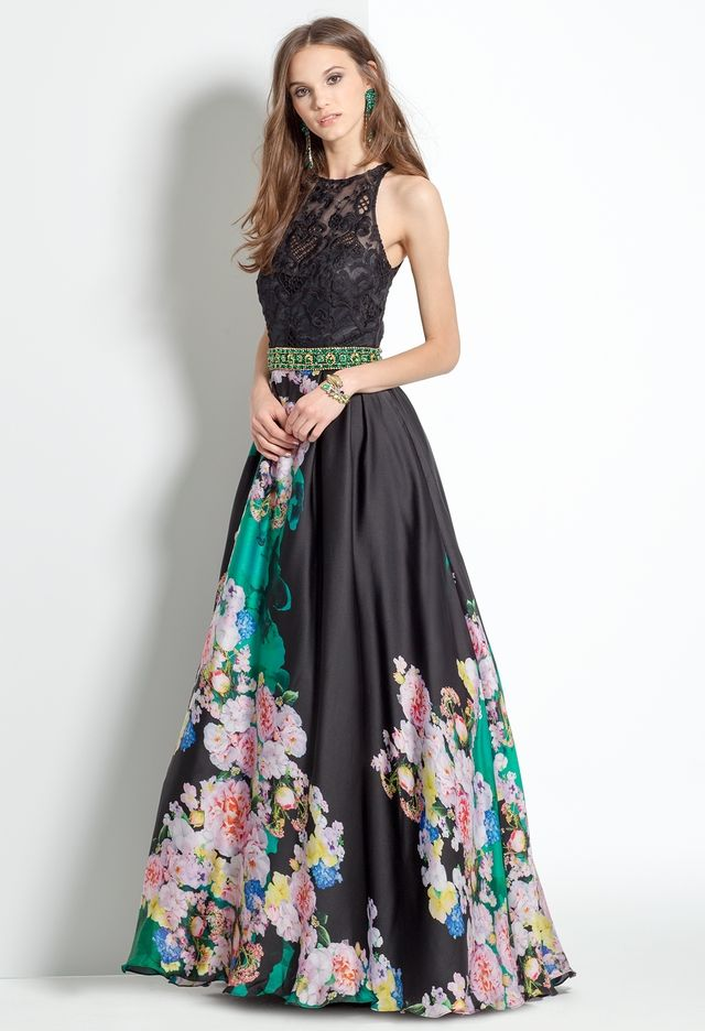Lace and Floral Satin Dress from Camille La Vie and Group USA ...