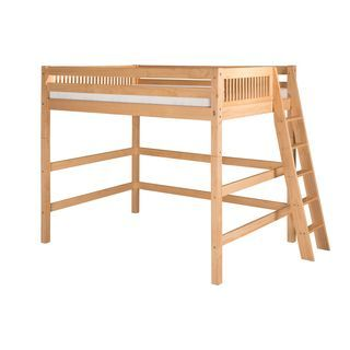 Camaflexi Twin-size Natural Finish High Loft Bed with Mission Headboard | Overstock.com Shopping - The Best Deals on Kids' Beds