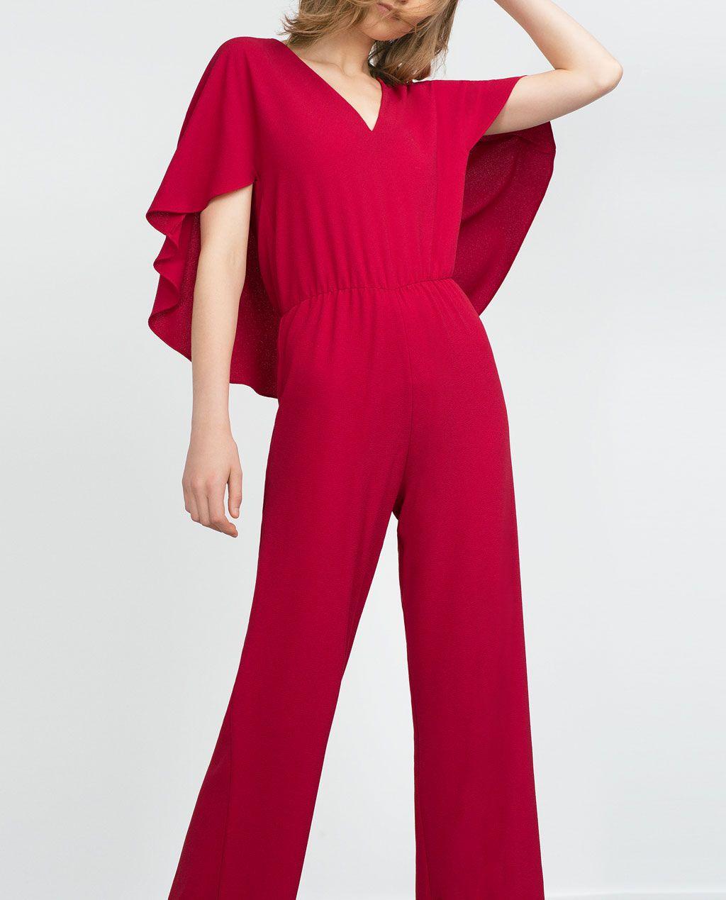 zara collection aw15 combinaison manches chauve souris et col en v mode lingerie. Black Bedroom Furniture Sets. Home Design Ideas