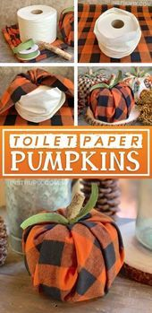 DIY Fall Decor Idea: Toilet Paper Pumpkins (Cheap & Easy,  #amp #cheap #cutehomedecoratio... #falldecorideas