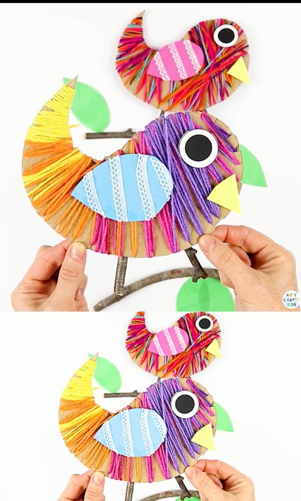 Photo of Yarn Wrapped Bird Craft for Kids
