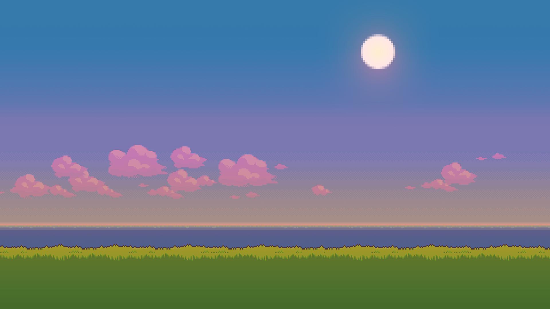 Pixel Art Landscapes Album On Imgur Pixel Art Landscape Pixel Art Background Pixel Art