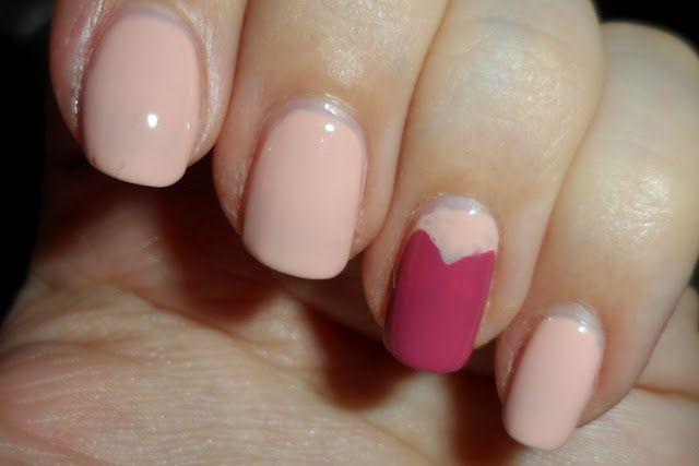 nail art - heart accent nail