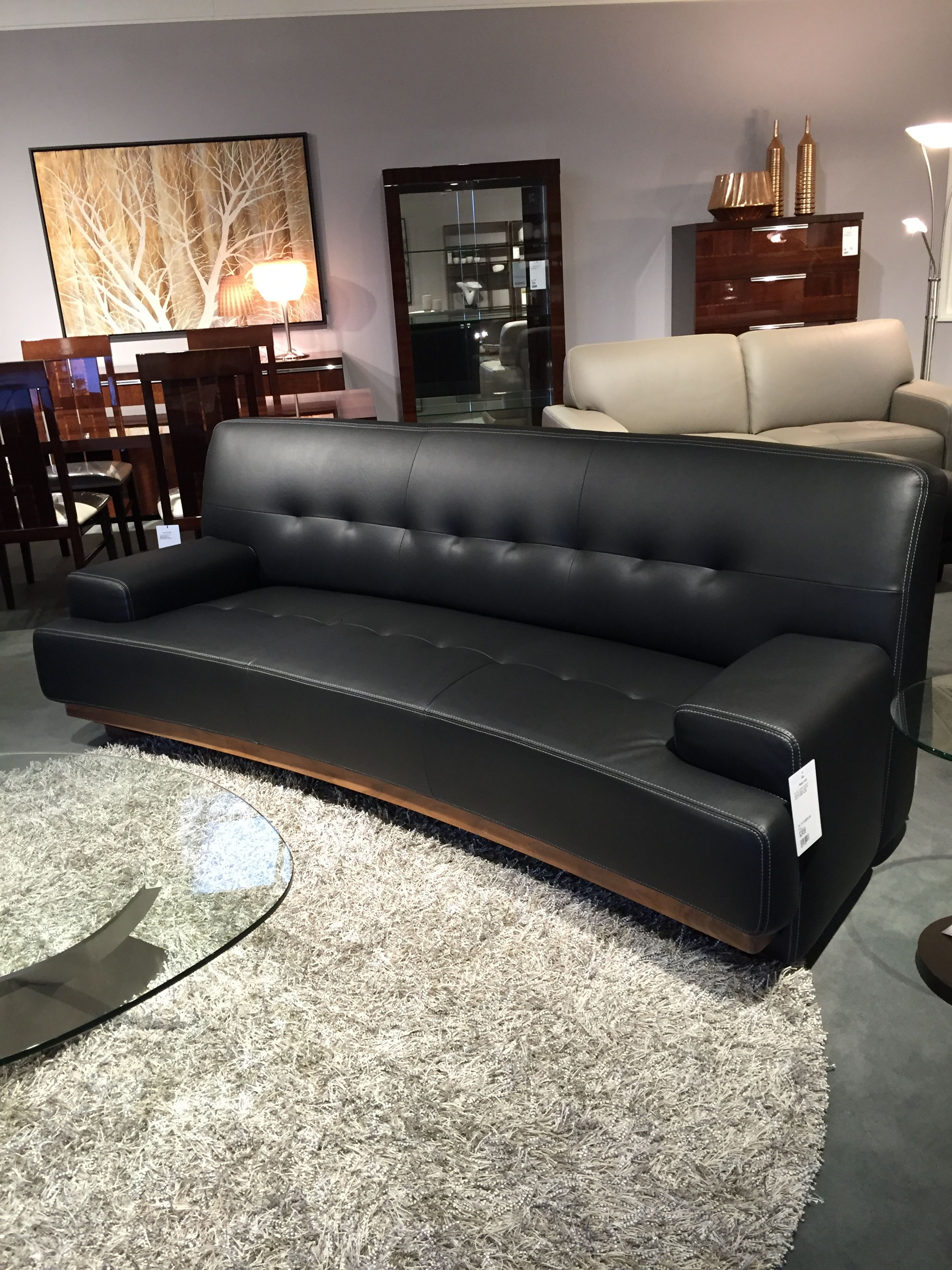2500 Dania Mandalay Sofa Leather And Walnut Leather Sofa Home Decor