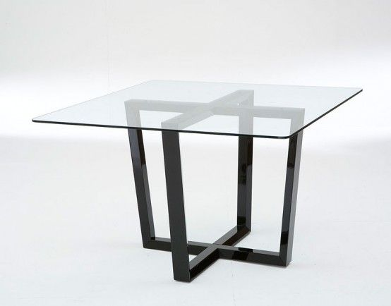 55 Glass Top Dining Tables With Original Bases With Images